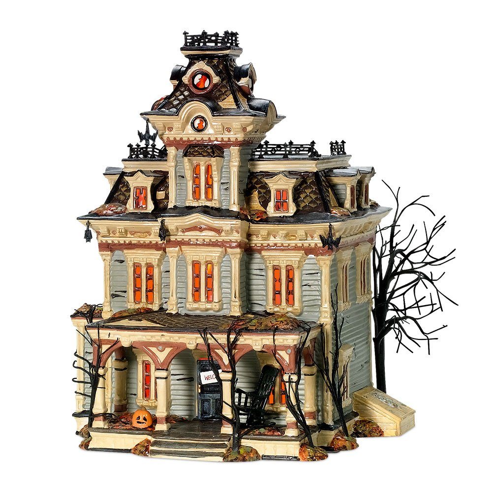 amazoncom department 56 snow village halloween grimsly manor lit house home kitchen