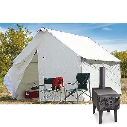 Image Unavailable  sc 1 st  Amazon.com & Amazon.com : K-AXIS 10u0027 x 12u0027 Canvas Wall Tent Complete Bundle with ...