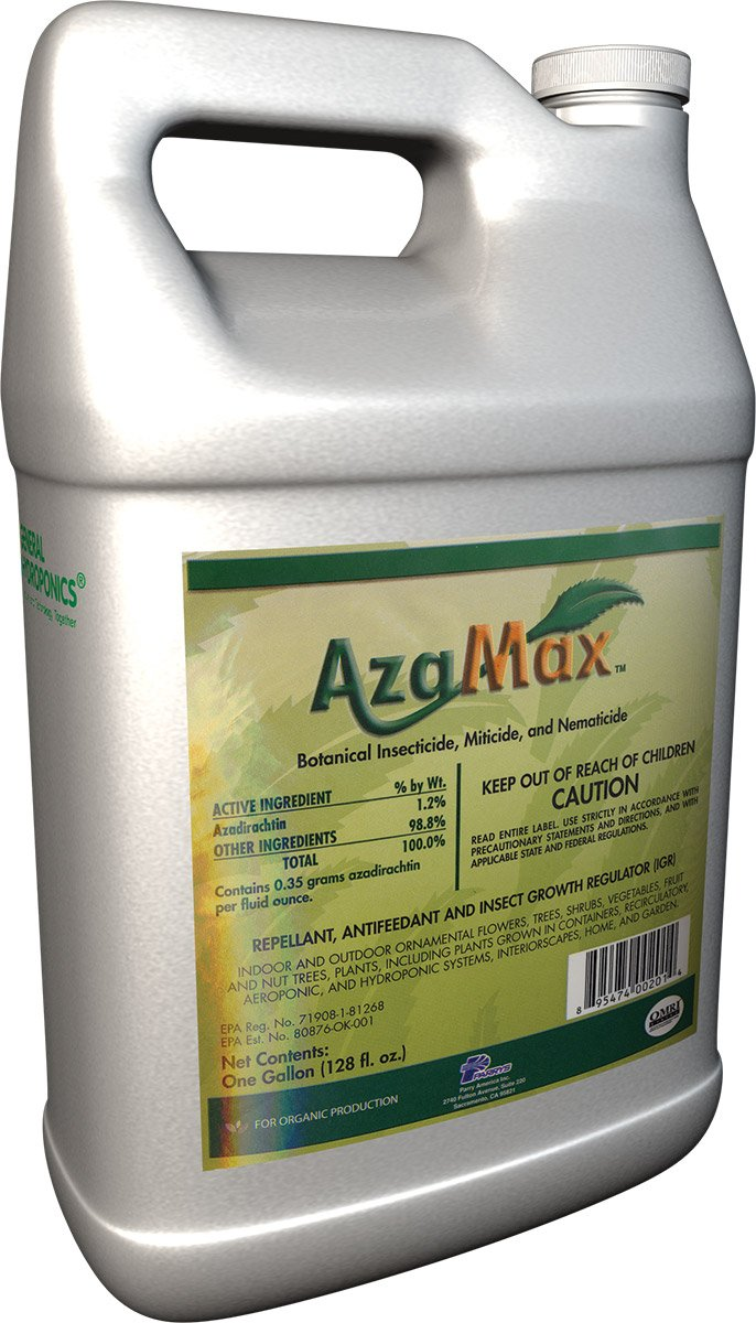 General Hydroponics GH2003, Azamax Antifeedant and Insect Growth Regulator, 1-Gallon