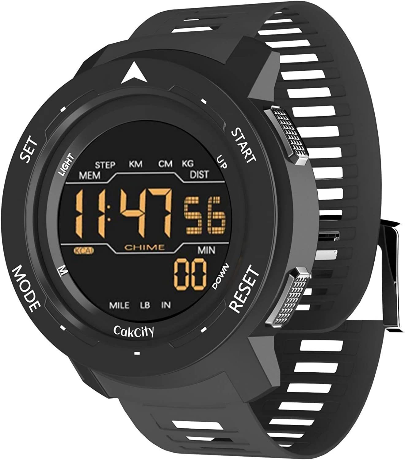 Digital Pedometer Sports Watches for Men with Counting Calories, Alarm, Waterproof, Super Light, Model: Mars