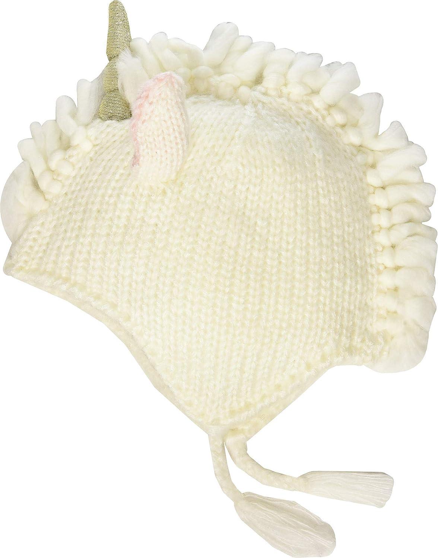 Mud Pie Baby Girls Ivory Unicorn Hat Infant