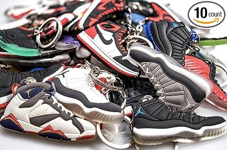 67c76de67f1b Amazon.com  WeTheFounders Shoe Keychain Wild Variety Pack (Jordan ...
