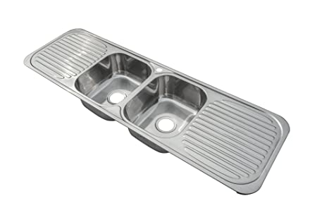 Stainless Steel Inset Kitchen Sink 2.0 Bowl With Double Drainer ...