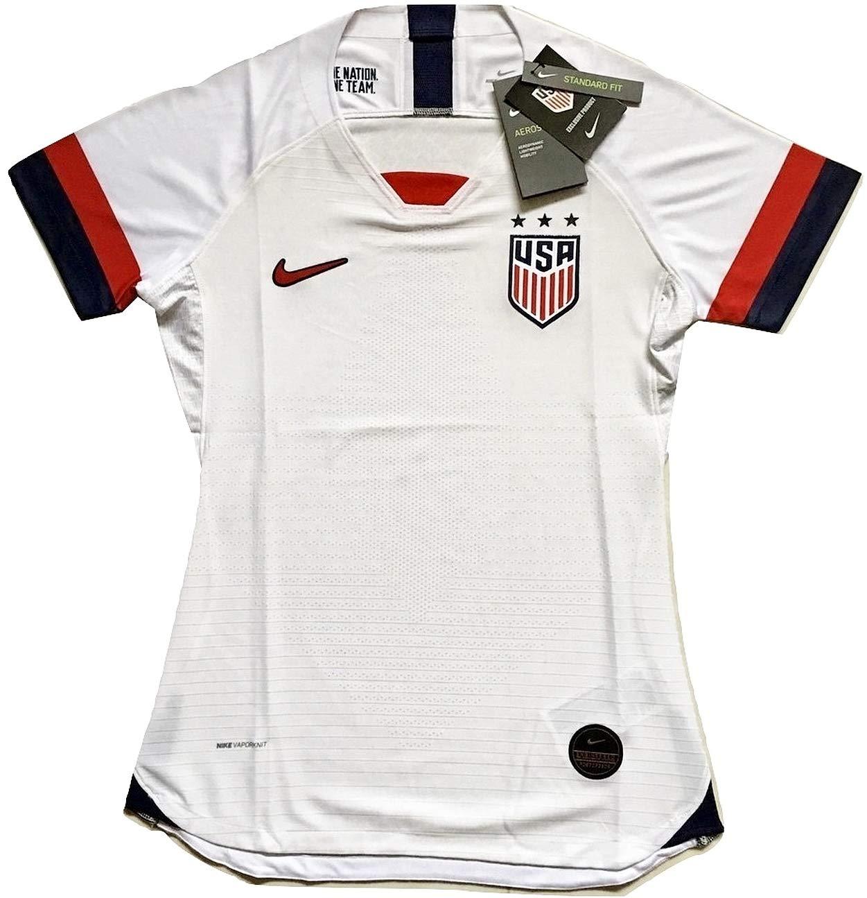 Enevva Women's USA National Team 2019-2020 Home Authentic Vapor Match Soccer Jersey White (Women's Medium)
