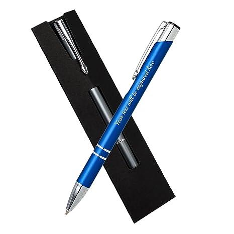 Nombre Regalos personalizados azul del bolígrafo con Negro ...