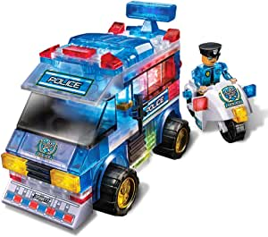 Amazon.com: Lite Brix Lite Up Police Patrol Playset: Toys