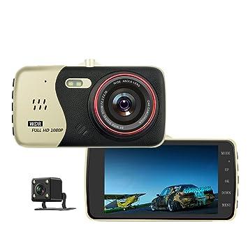 "Dash Cam 4 ""pantalla IPS pantalla doble lente Full HD 1080p del coche en"