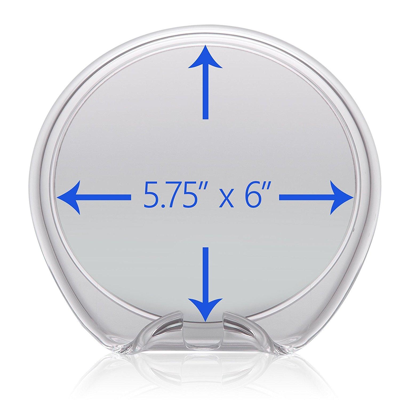 5 grados de aumento Espejo de ducha antivaho Regalo de aseo masculino Ventosa con mecanismo de succi/ón y gancho para cuchillas de afeitar Giratorio 360/º Ideal para casa y viajes
