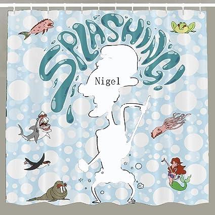 Farram Custom Nigel Thornberry Fabric Waterproof Shower Curtain Standard Size 66x72 Inch Amazonin Home Kitchen