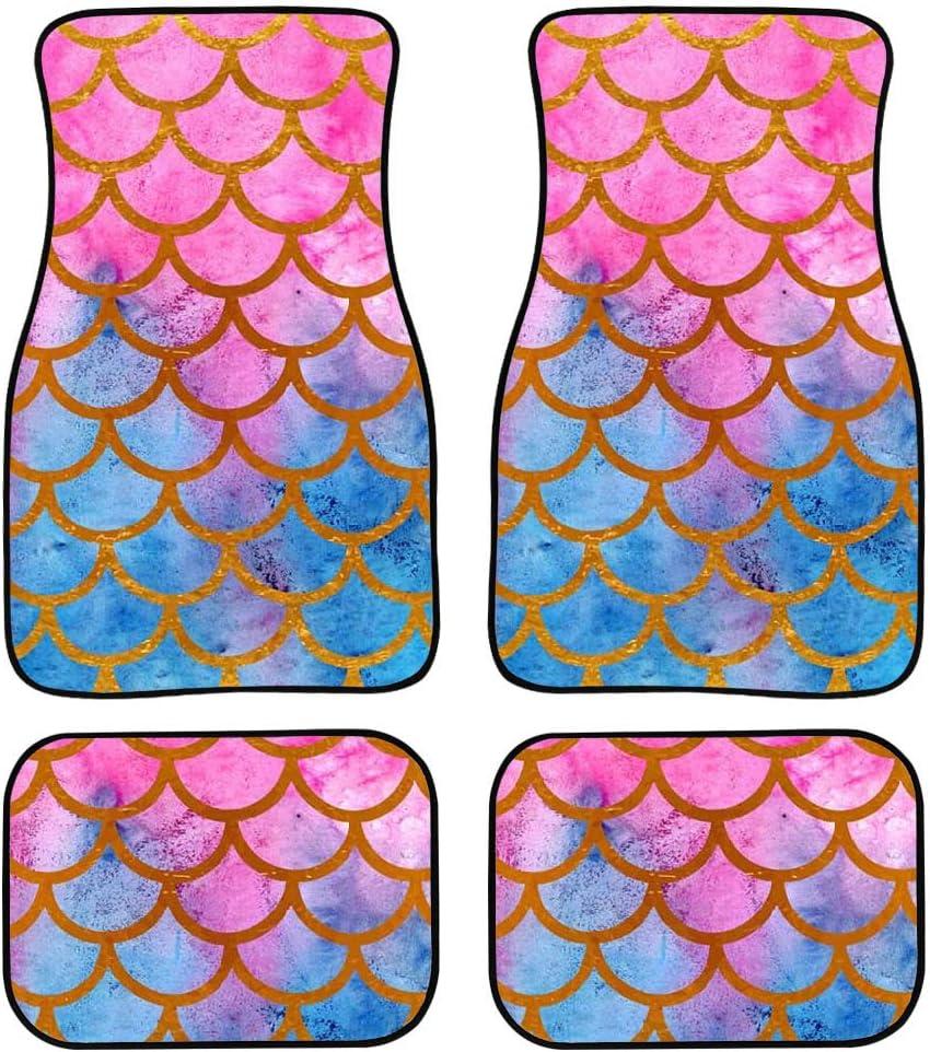 Antiskid Purple Butterflies Soft Durable Rubber Mats Cushions Cover for Car Front /& Rear Floor 4 Pieces NETILGEN Automotive Floor Mats Universal Fits Full Set