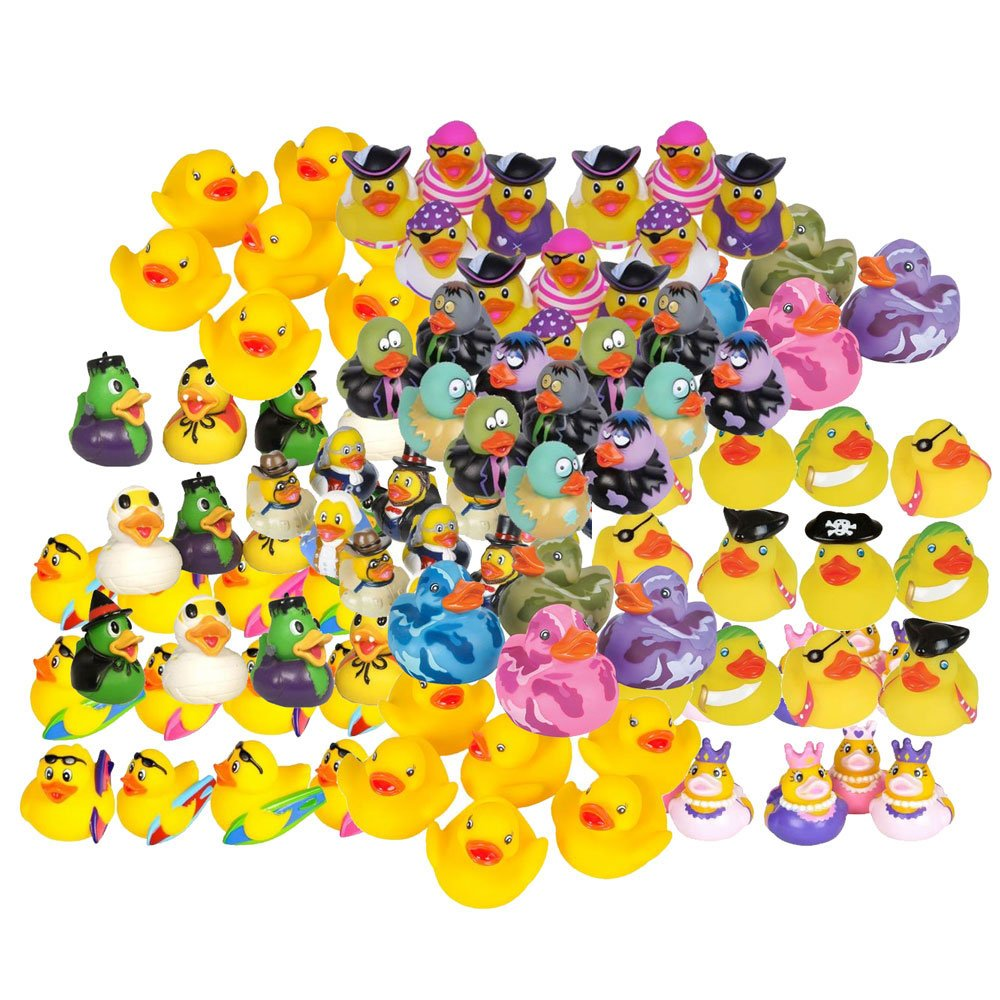Rhode Island Novelty - Rubber Ducks - MIXED LOT (100 Dozen - 1200 Assorted Ducks)
