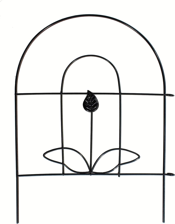 DLCUEL Edging Fence Iron Decorative Garden Barrier Panels 18
