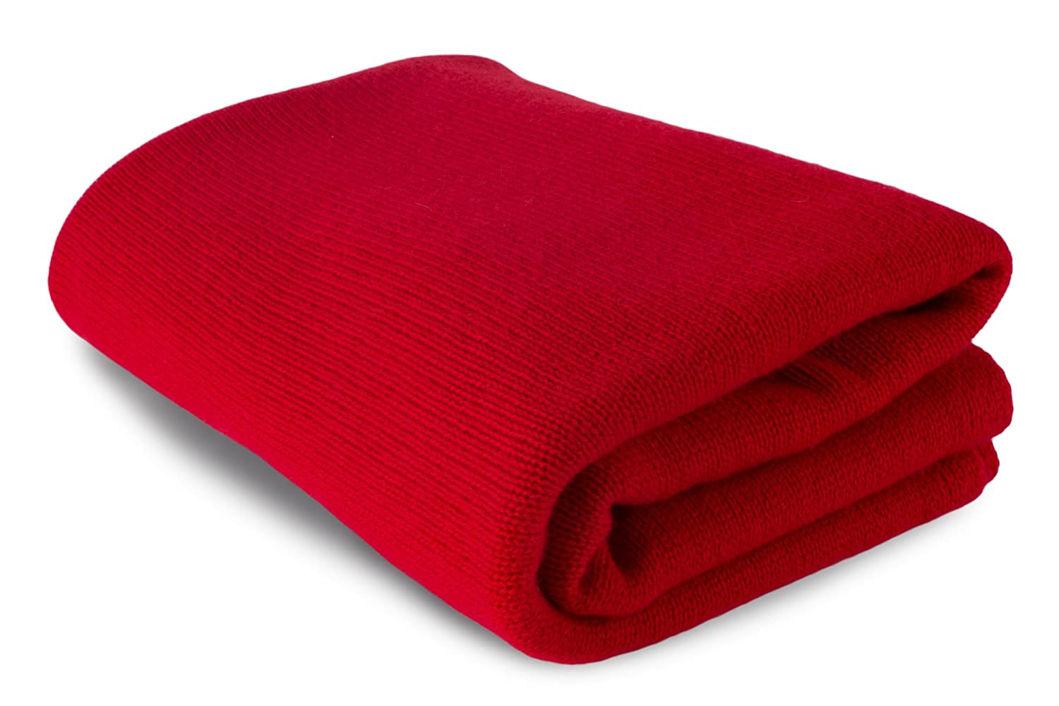 Large 100 %カシミアBed Blanket Throw – レッド – Made to Order、2サイズ可能 – Made in Scotland Extra Large (160cm by 208cm) レッド LC093_red B01NAC4GWQ  Extra Large (160cm by 208cm)