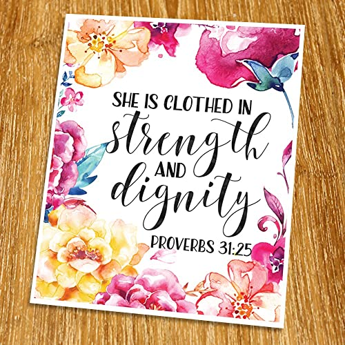 Amazon.com: Proverbs 31:25 She is clothed in strength and dignity ...