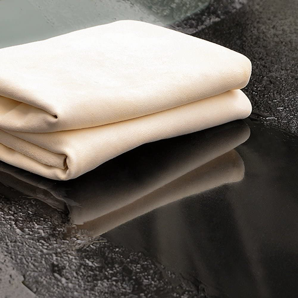 15.7in x 20in River Lake Car Natural Chamois Cleaning Cloth for Car Super Leather Towel Absorbent Cleaning Cloth
