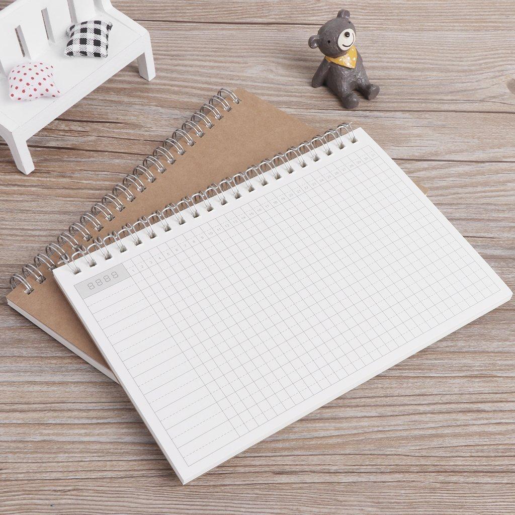 Junlinto Planner Book Monthly Agenda Diaria semanal Schedule ...