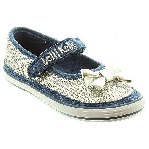 10a57b0bc0 Lelli Kelly Kids LK5314 Newsprint Shoes in Silver: Amazon.co.uk ...