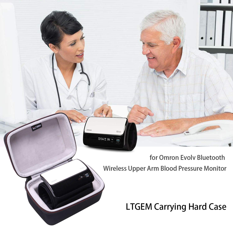 LTGEM EVA - Funda rígida para Omron Evolv Bluetooth inalámbrico con Brazo Superior para Monitor de presión Arterial, Bolsa de Almacenamiento Protectora de ...