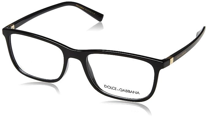 8ca3a804b63 Amazon.com  Dolce   Gabbana frame (DG-5027 501) Acetate Shiny Black ...