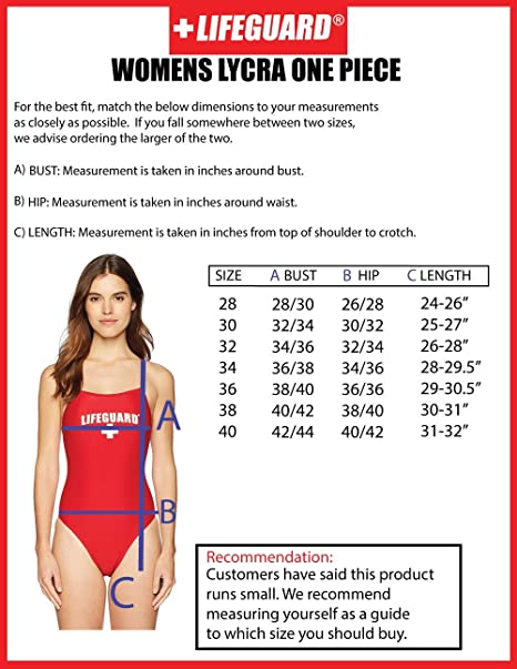 dfbd72b1faa Amazon.com: LIFEGUARD Officially Licensed Swimsuit for Women & Ladies, One  Piece Lycra Swimming Suit, Elastic Comfort Straps.: Clothing