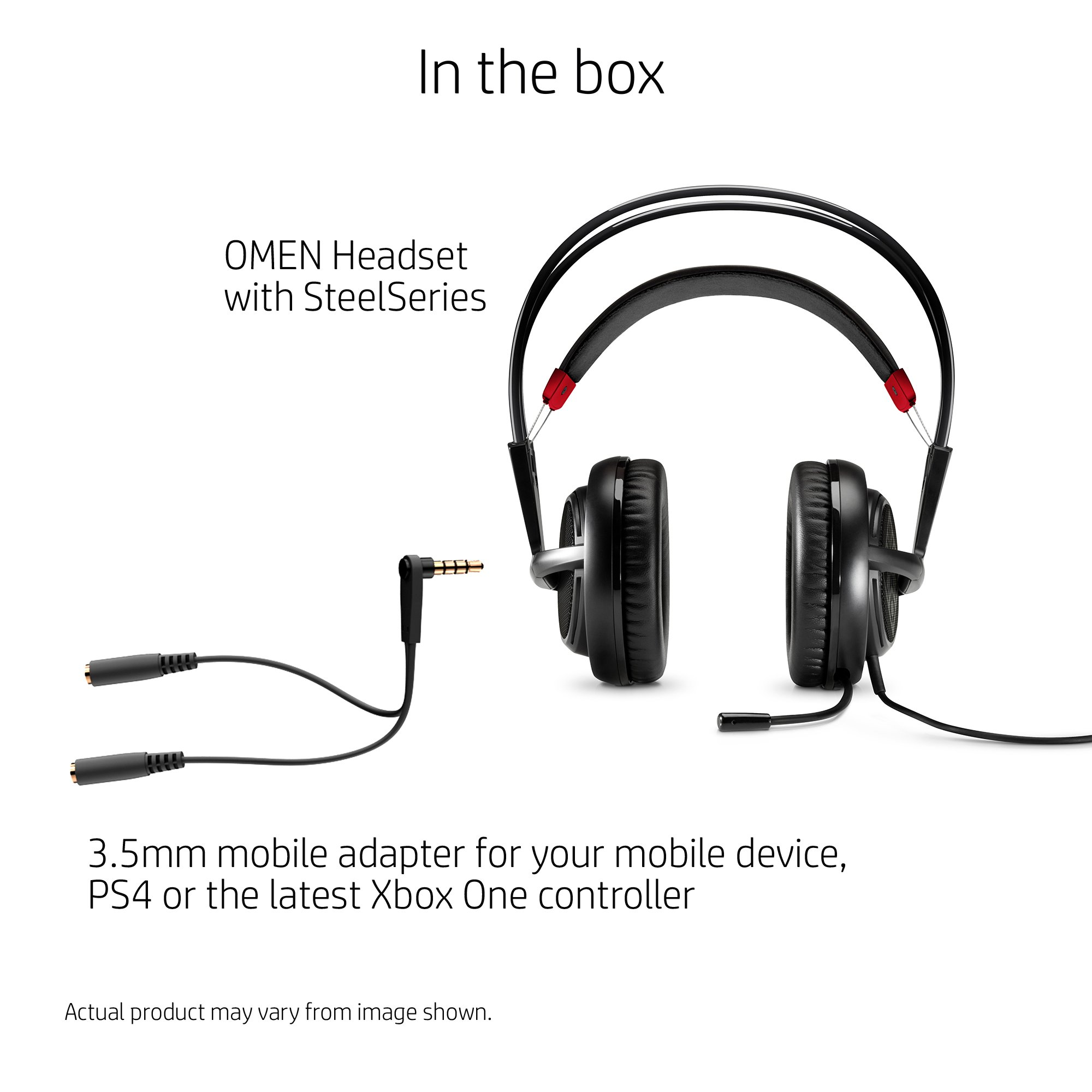 OMEN by HP Wired Gaming Headset with SteelSeries (Black) by HP (Image #3)
