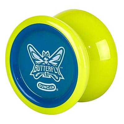 Butterfly XT Duncan Lime Green with Blue Cap Yo Yo: Toys & Games