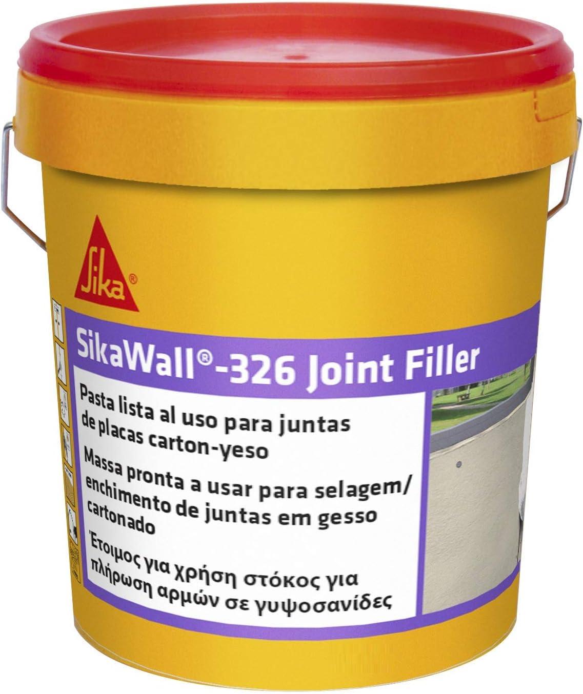 Sika 326 Joint Filler Masilla acrilica Lista al Uso para Juntas de Placa de Yeso Laminado con Cinta de Refuerzo, Blanco, 7kg: Amazon.es: Bricolaje y herramientas