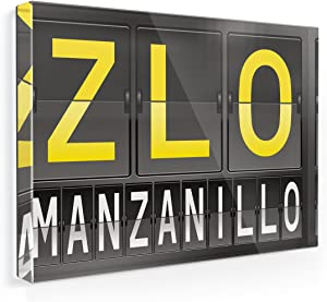 Fridge Magnet ZLO Airport Code for Manzanillo - NEONBLOND