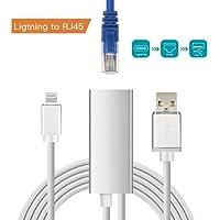 Brong Lightning auf RJ45 Ethernet Adapter,10/100 / 1000 Mbps High Speed LAN Netzwerk Adapter für iPhone X / 8 Plus / 8/7 Plus / 6 Plus / 6 und iPad