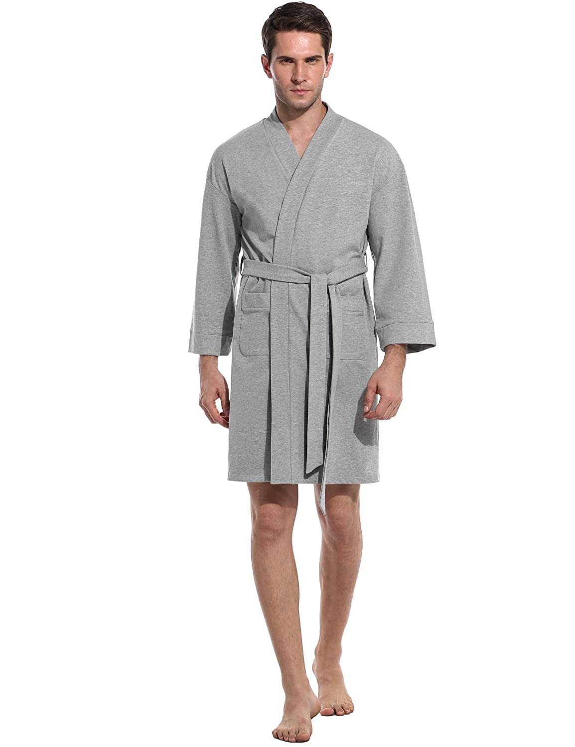 Avidlove Mens Spa Bathrobe Hotel Kimono Long Robe Lightweight Loungewear *ALK005090