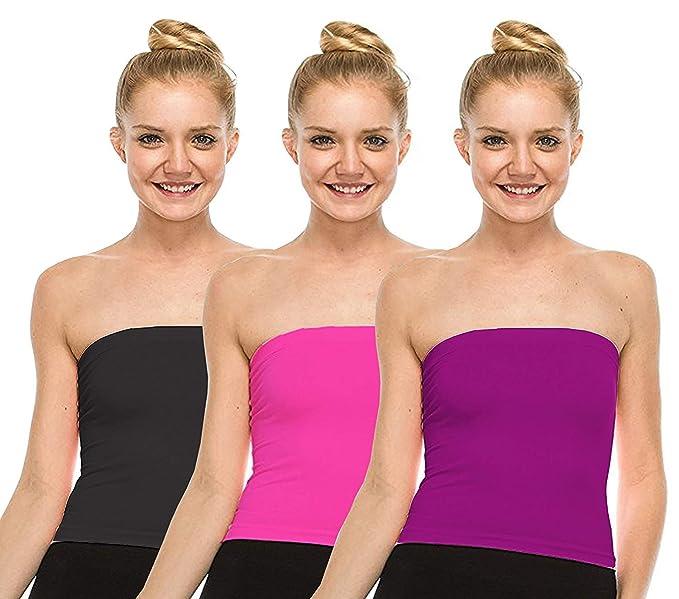 a1413f14eb Fashion Line Cotton Lycra Tube Top for Girls Women (Black