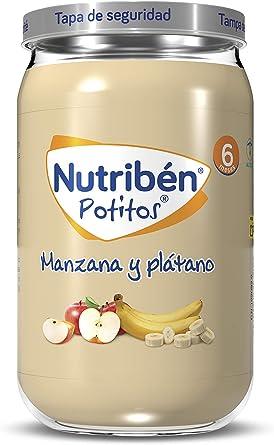 Oferta amazon: Nutribén Potitos de Manzana y Plátano Desde los 6 Meses, 235 G, Pack de 1