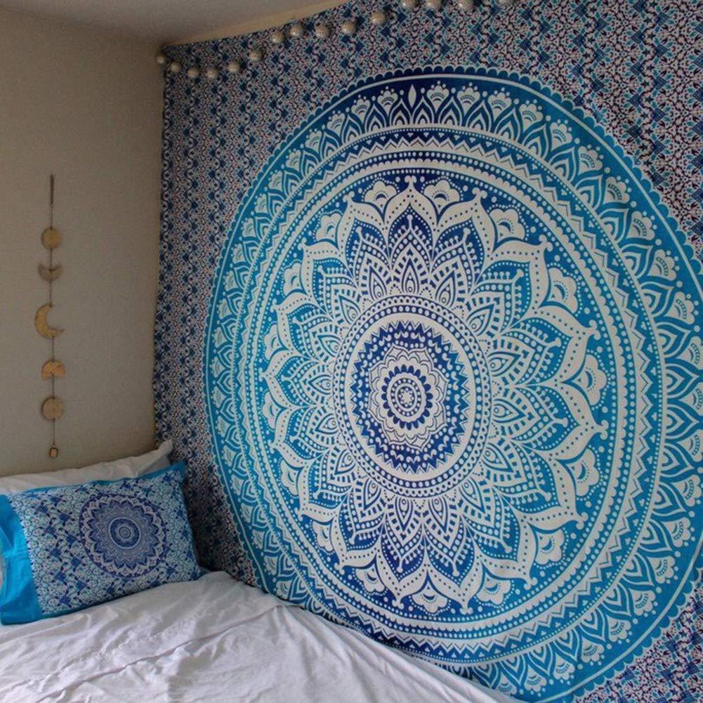 ANLUQIRIYON Tapiz Mandala multicolor Alfombra India Colgante de pared Manta de playa Alfombra de picnic Decoraci/ón para el hogar 200 /× 150 cm 150 /× 130 cm