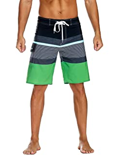 596da2a207 Nonwe Men's Sportwear Quick Dry Board Shorts with Lining