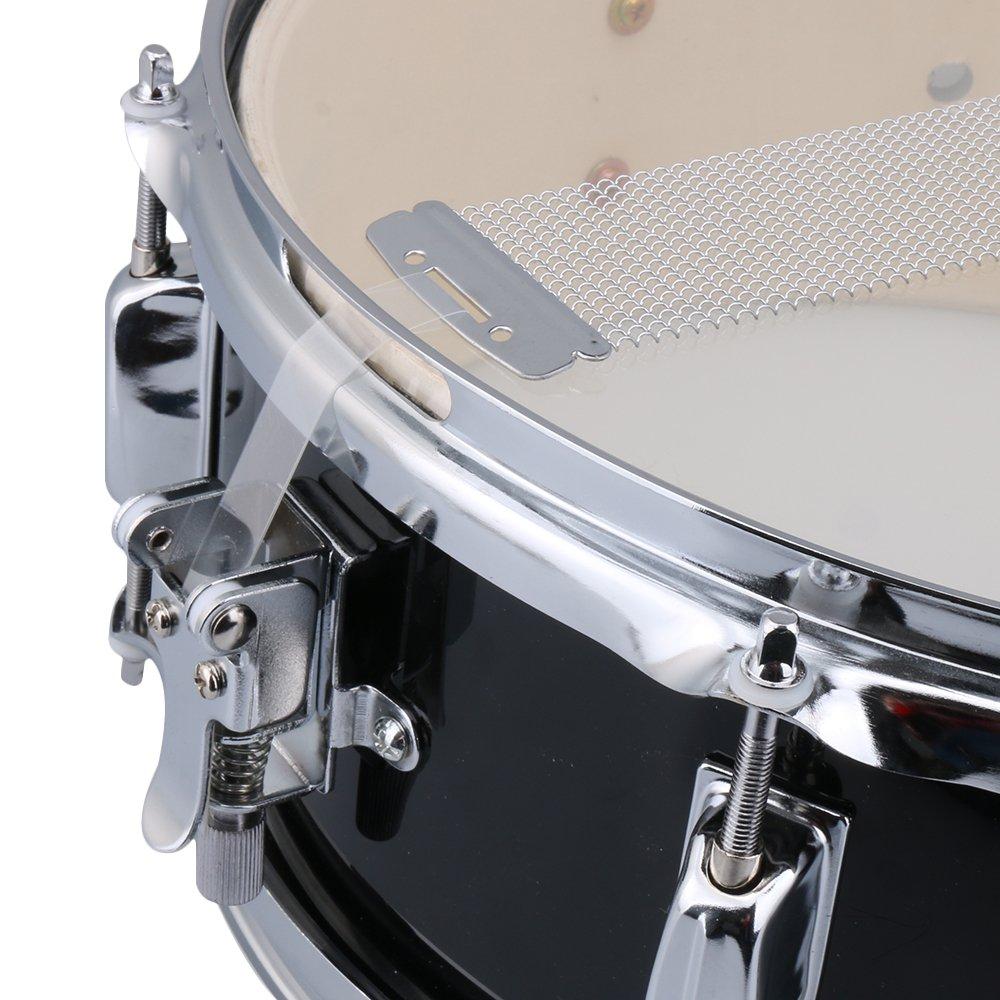 yibuy 35,6 cm Edelstahl schwarz Snare Drum Set Halterung Trommel ...