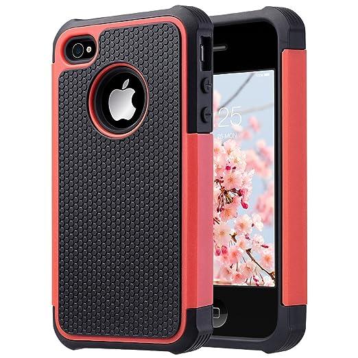 56 opinioni per ULAK- Cover per iPhone 4S, iPhone 4 Cover , Custodia ibrida in silicone 2 in 1