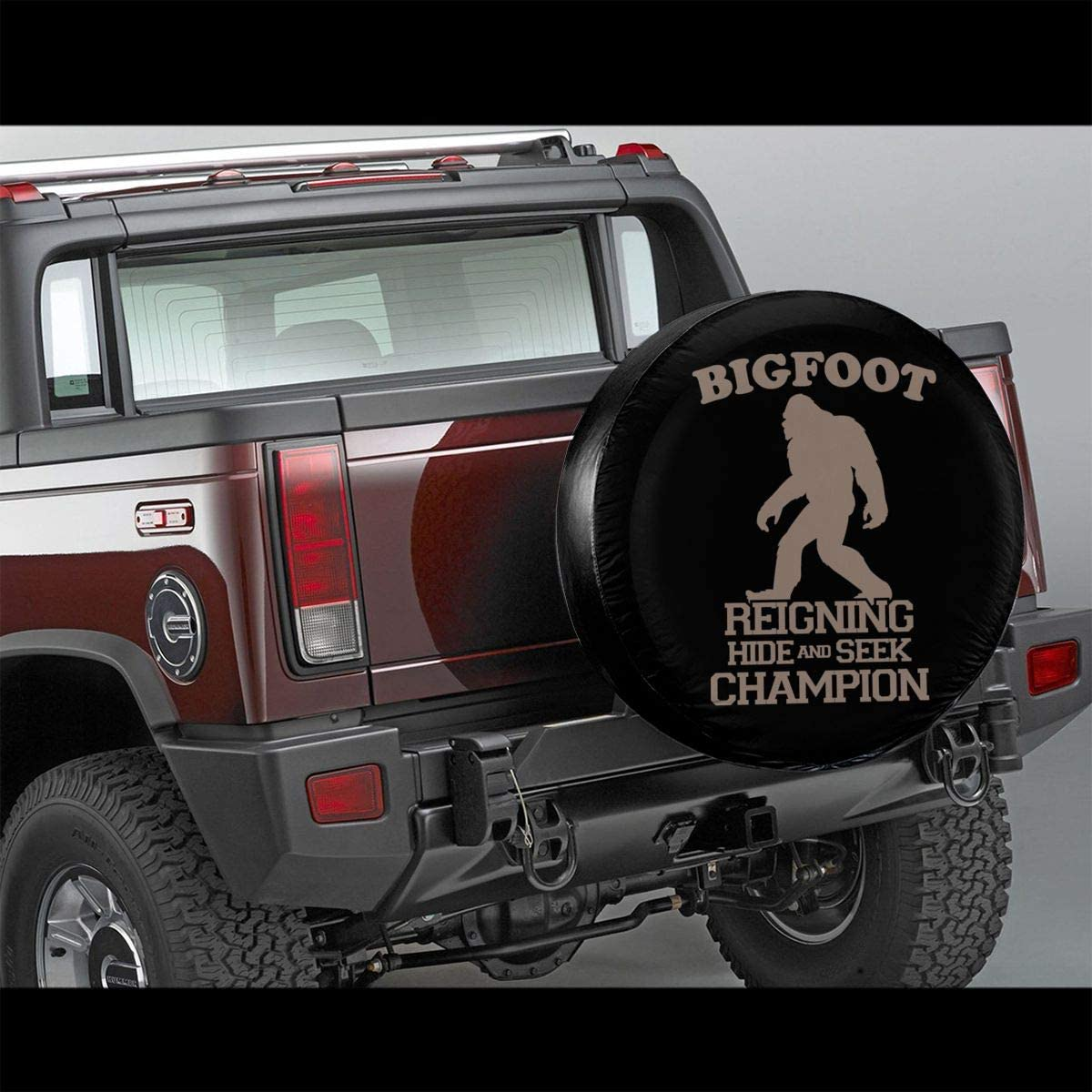 Trailer,RV,SUV,Truck and Vehicle Wheel 14 15 16 17 Wheel Tire Cover Weather-Proof 66JR Spare Tire Covers Bigfoot Hide and Seek Print Universal Fit for Jeep