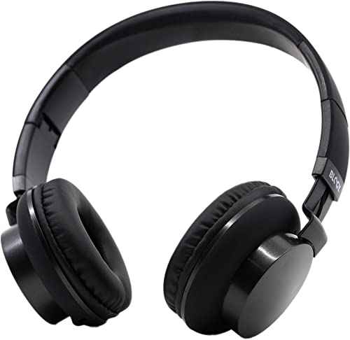 Blogy Element One Pinch-Free Foldable Headphones with Crisp HD Sound, Ergonomic and Easy Adjustable fit for All Ages, Children, Boys, Girls and Adults Black