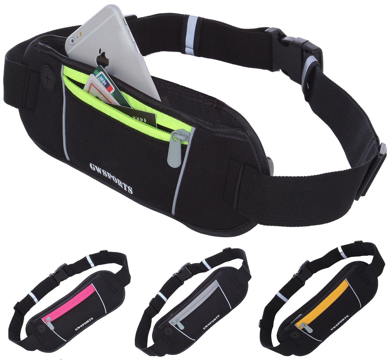GW SPORTS ランニング サイクリング用 ウエストバッグ iPhone 6 Plus 等の 5.5インチサイズ カバー付き ラクラク収納可 全4色