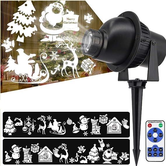 Cajolg 3D Proyector LED Luces de Navidad Al Aire Libre Interior ...