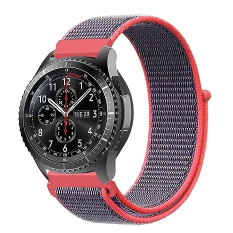 Fintie Correa para Samsung Galaxy Watch 46mm / Gear S3 Frontier/Gear S3 Classic/Huawei Watch GT - 22mm Pulsera de Repuesto de Nylon con Cierre ...