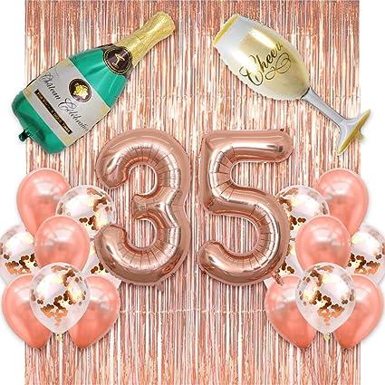 Amazon.com: BALONAR - Globos con números de oro rosa ...