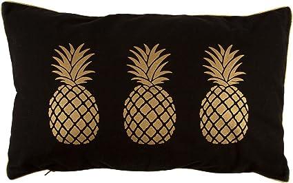 Gold Pineapple Cushion Amazon Co Uk Kitchen Home
