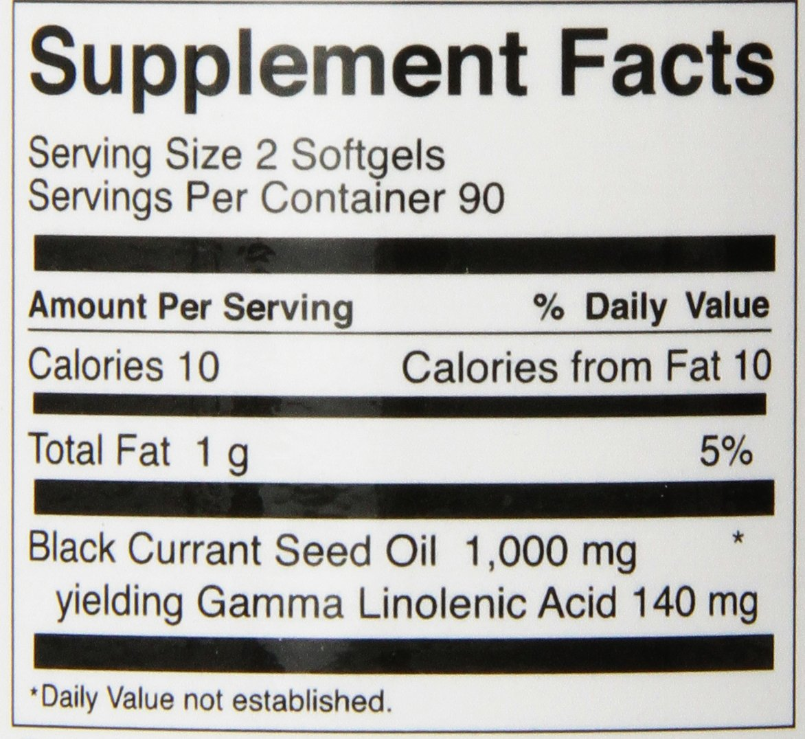 FoodScience of Vermont Natural GLA, Black Currant Seed Dietary Supplement, 180 Soft Gels by FoodScience of Vermont (Image #2)
