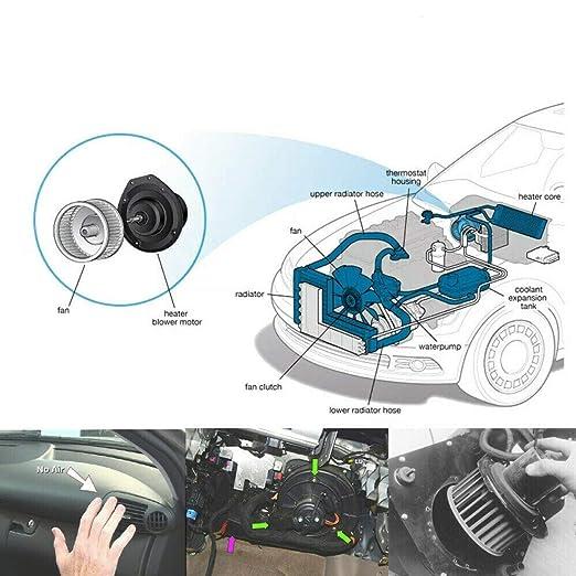SCITOO ABS plastic Heater Blower Motor w//Fan HVAC Resistors Blowers Motors Replacement fit for 1994-2001 Dodge Ram 1500//1994-2002 Dodge Ram 2500//1994-2002 Dodge Ram 3500//1993-1998 Jeep Grand Cherokee
