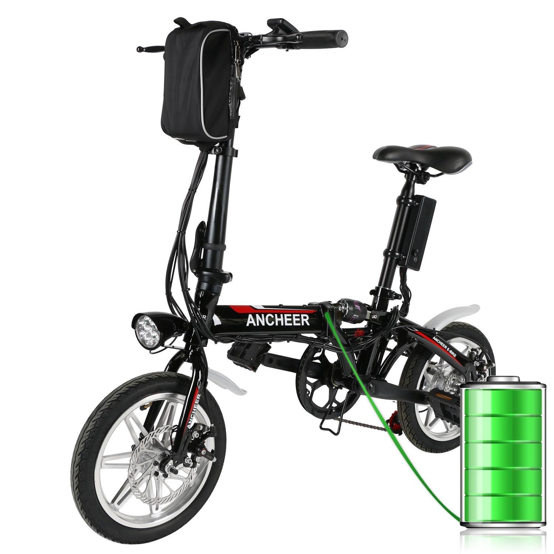Bicicleta Plegable Electrica de Paseo Ciudad con Batería V W Ruedas