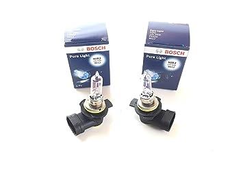 Juego de 2 bombillas HIR2 Pure Light 9012, 12 V, 55 W, PX22d con certificación E1: Amazon.es: Coche y moto