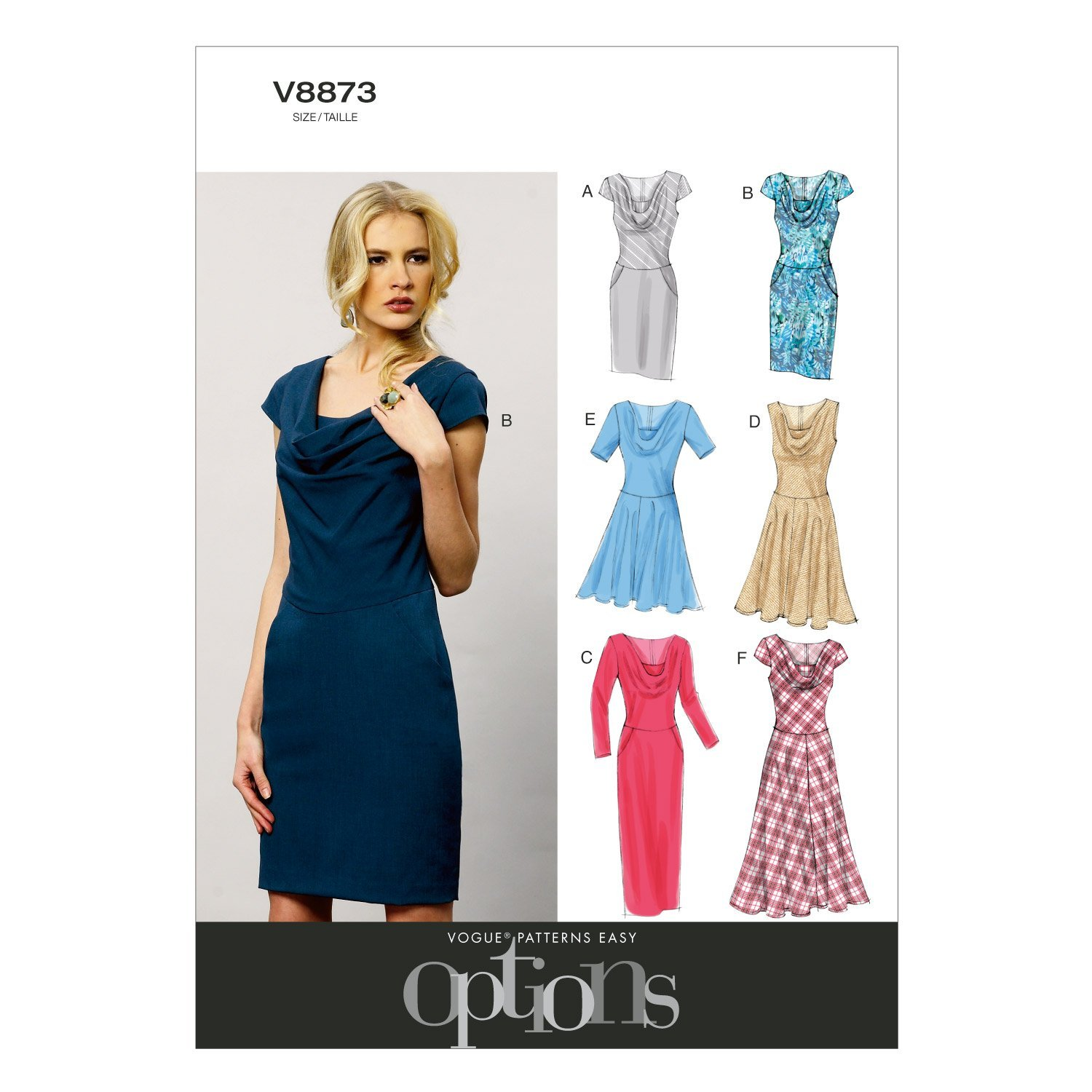 88d040702597 Amazon.com  Vogue Patterns V8873 Misses  Misses  Petite Dress Sewing  Template