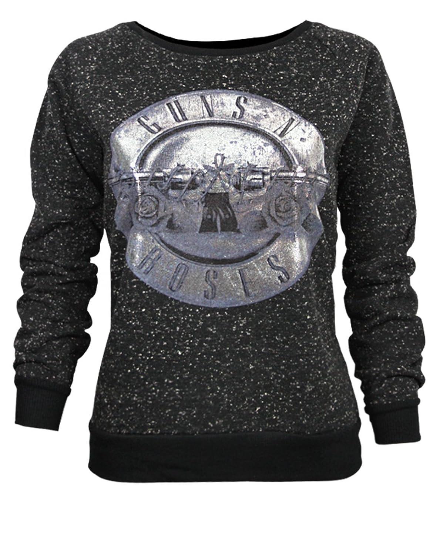 Amazon.com: Amplified Guns N Roses Foil Drum Women's Sweater: Clothing