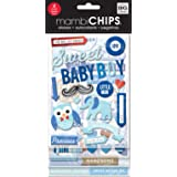 me & my BIG ideas Mambi Chips Sweet Baby Boy Scrapbooking Supplies